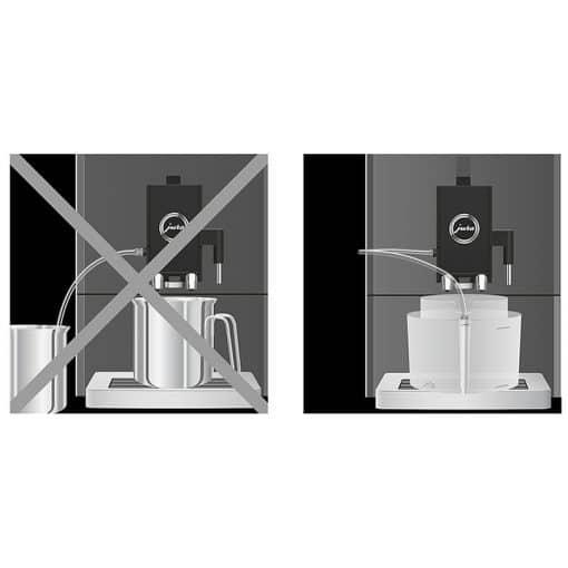 Récipient pour le nettoyage du système de lait 5