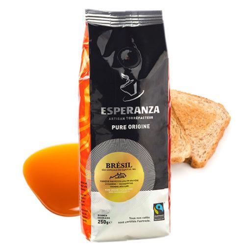 Café Esperanza BRESIL Fairtrade, en grains 3
