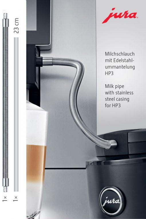 Milchschlauch mit Edelstahlummantelung HP3 4