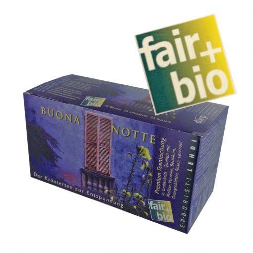 """Fair+Bio Lendi Tee """"Buona Notte"""", 25 Beuteln 3"""