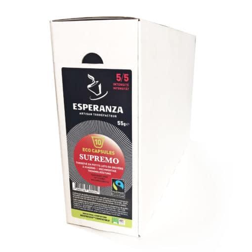 Capsules de Café Compatibles Fairtrade Compostables ESPRESSO Esperanza 2