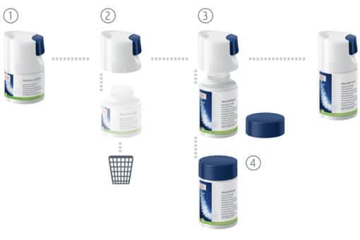 Détergent pour système de lait (mini-tabs) Flacon recharge 90 g 5